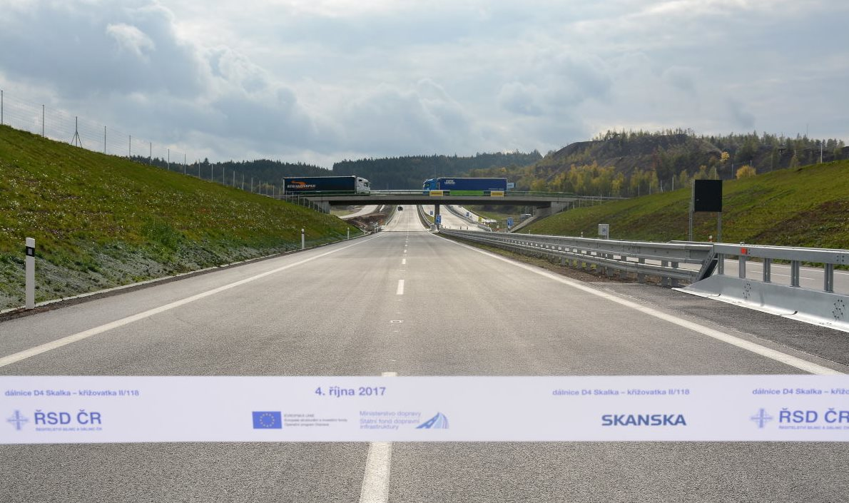 Drivers can now start using the section D4 Skalka – crossing II/118